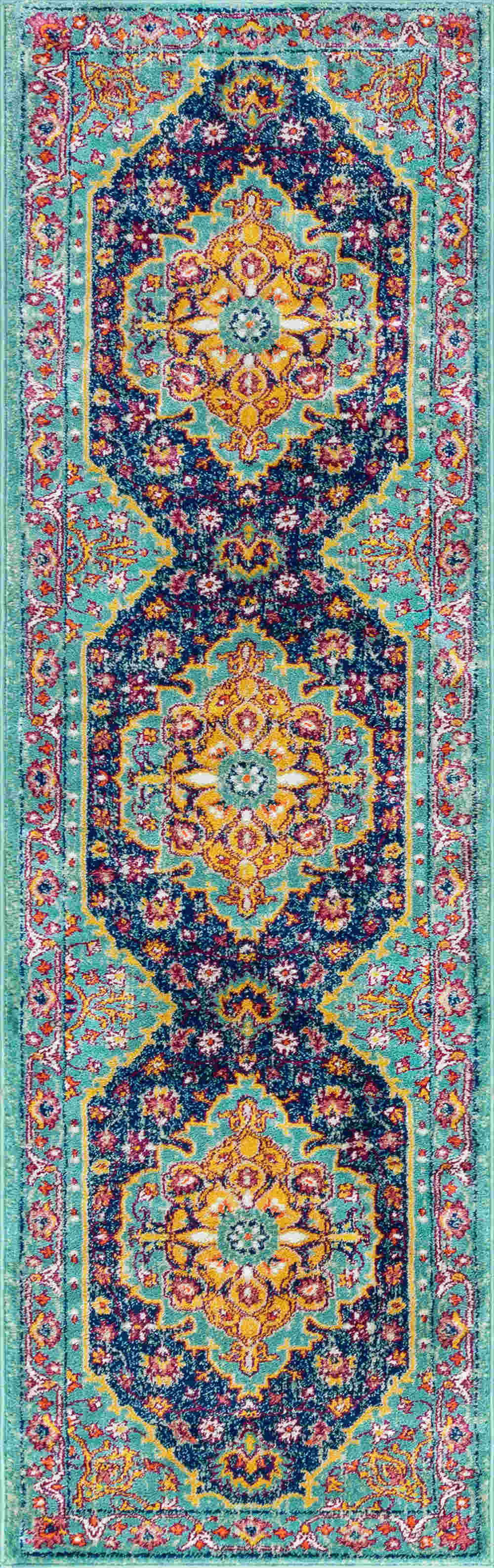 Tayse Generation Yuliana Transitional Aqua Rug