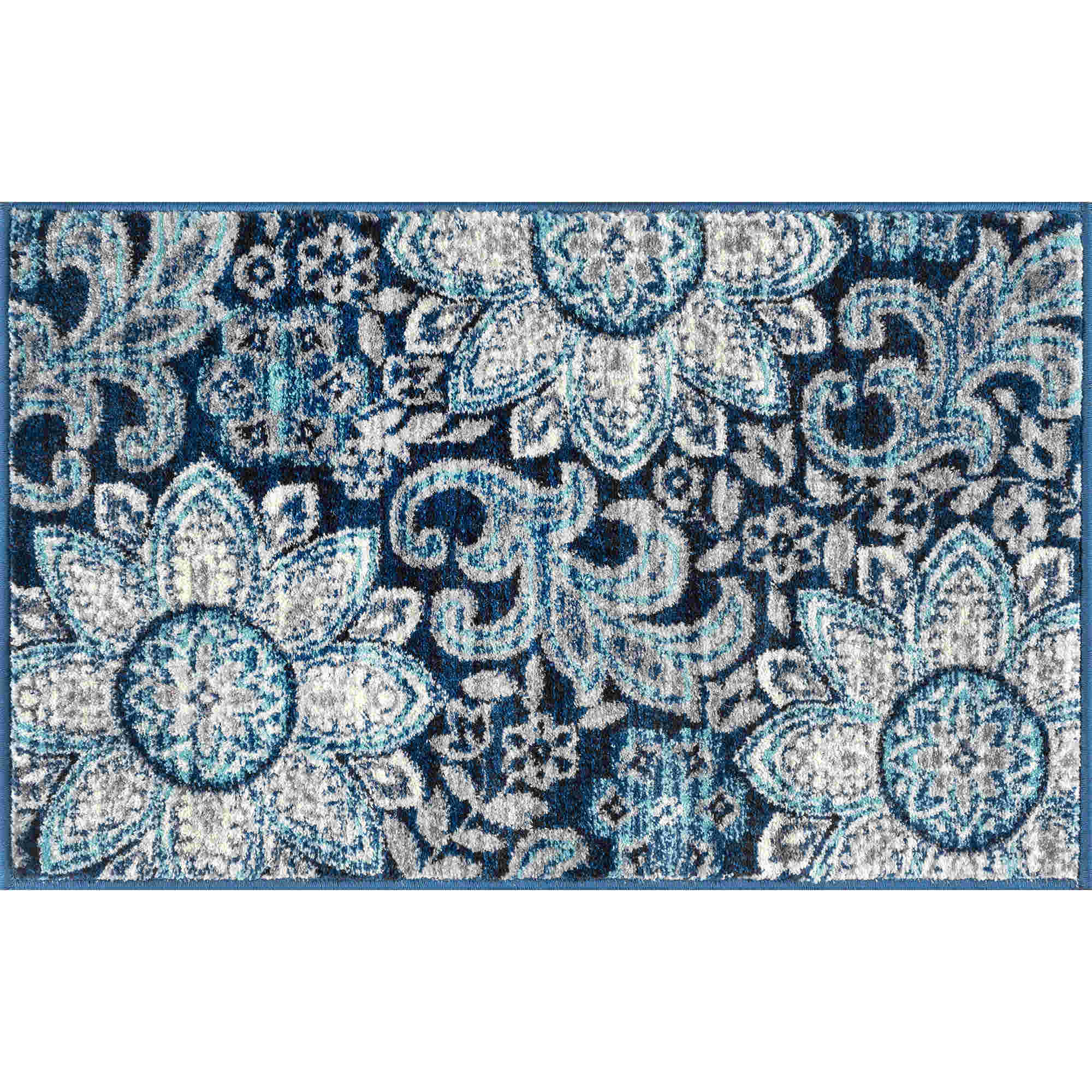 Tayse Jasmine Bryne Transitional Navy Rug