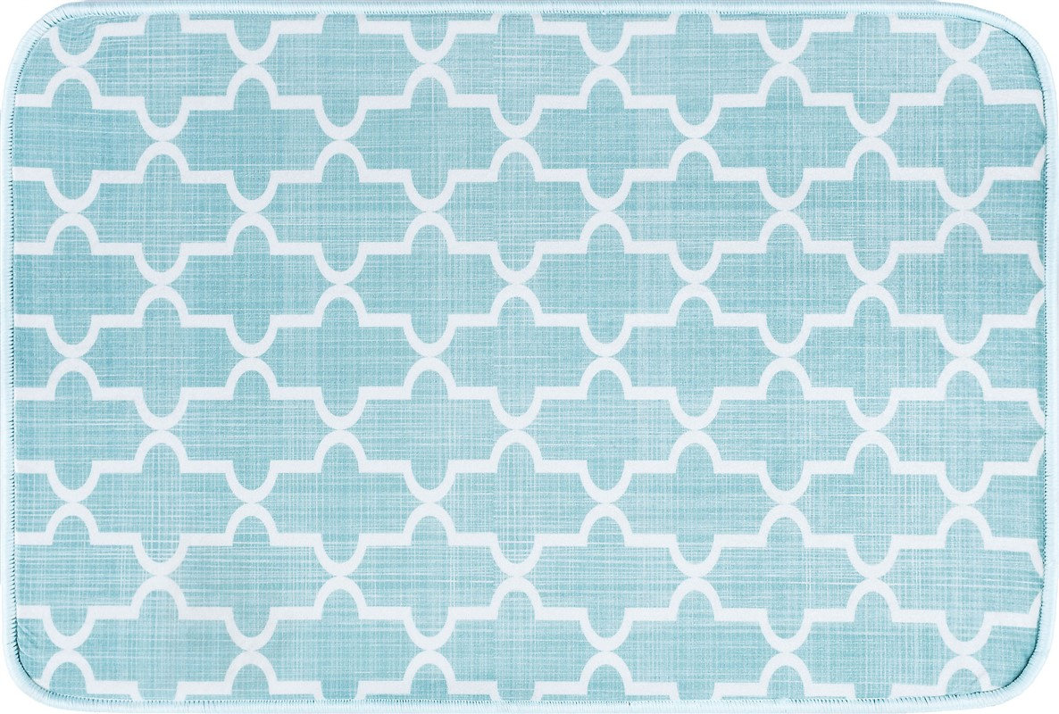 Tayse Luxor Home Anti-fatigue/bath Rugs Moroccan Tile