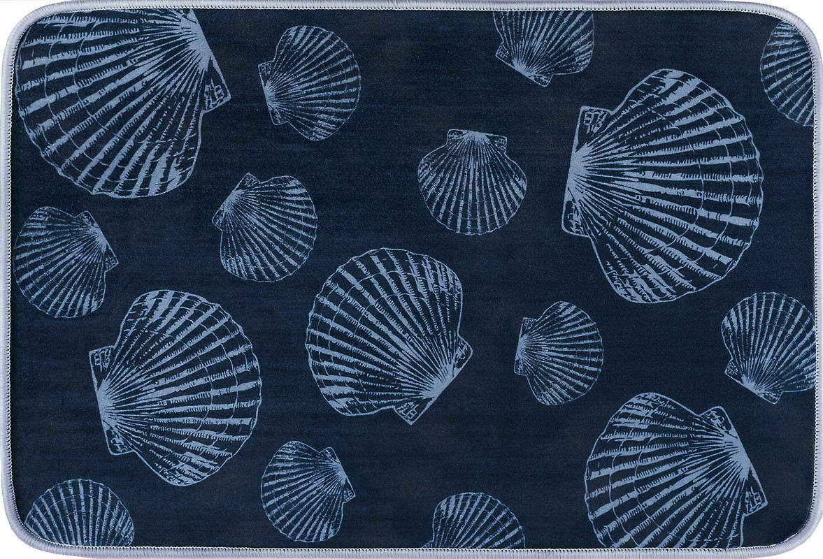 Tayse Luxor Home Anti-fatigue/bath Rugs Seashells