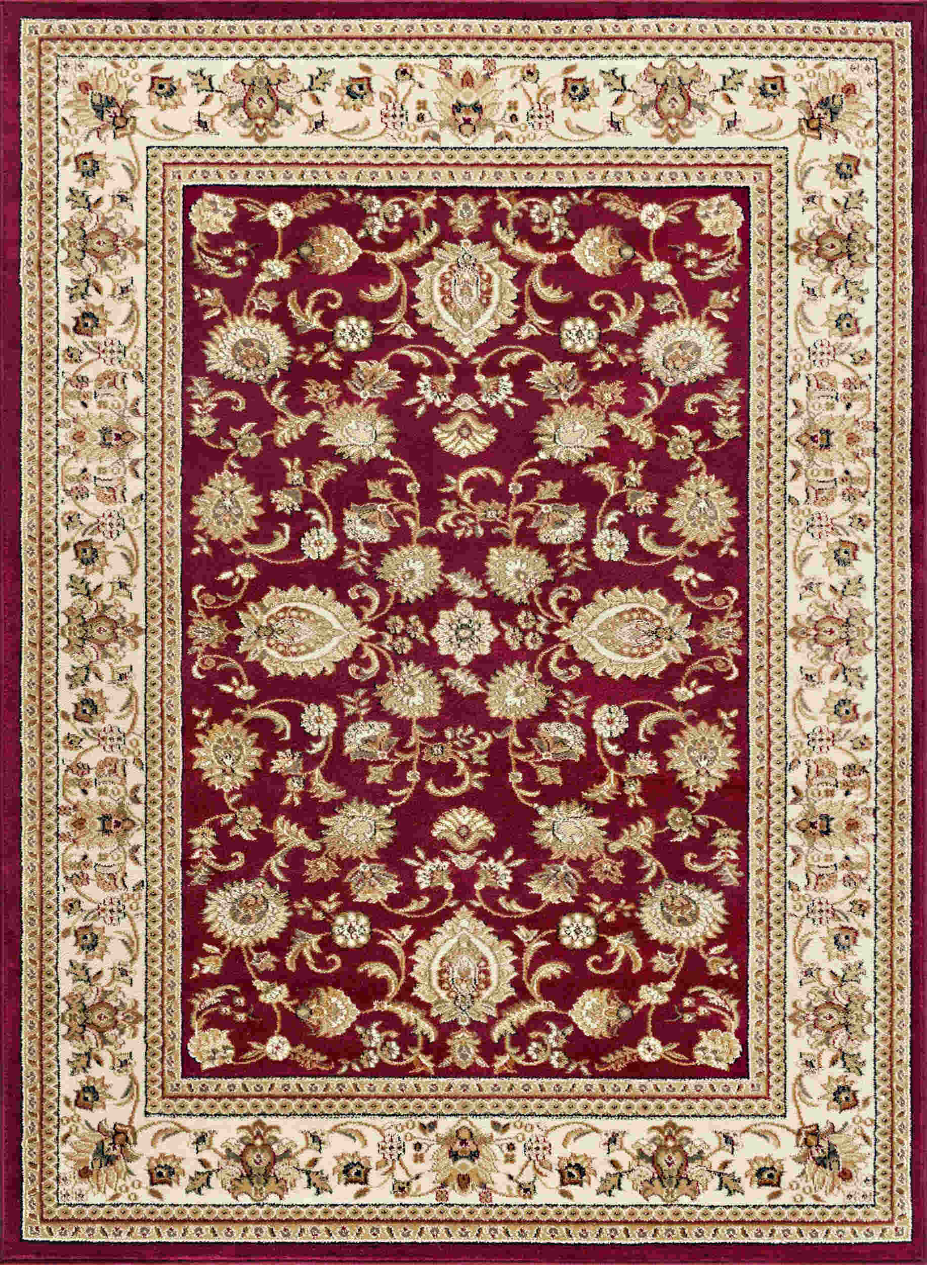 Tayse Sensation Gabrielle Transitional Red Rug