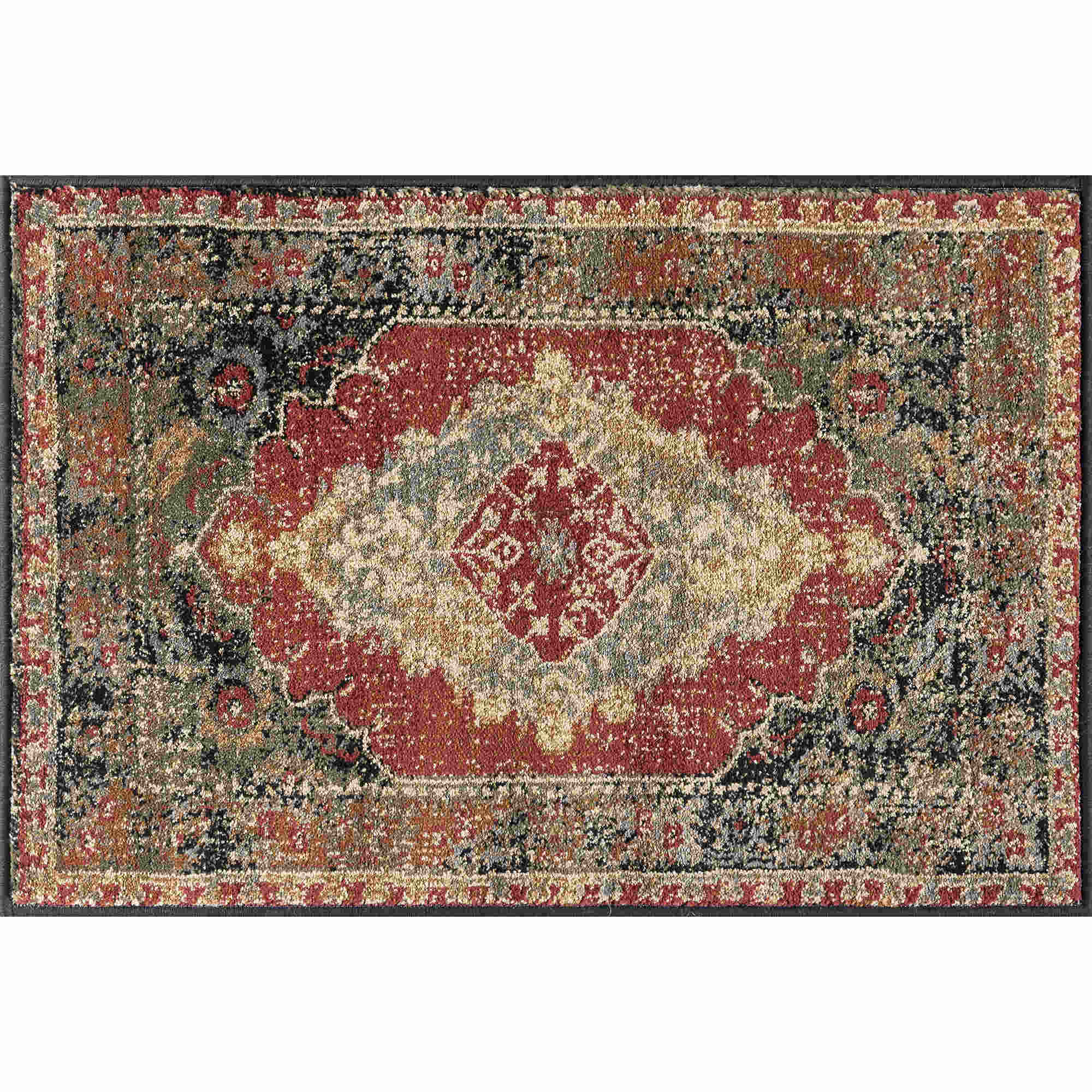 Tayse Sensation Fiona Transitional Red Rug