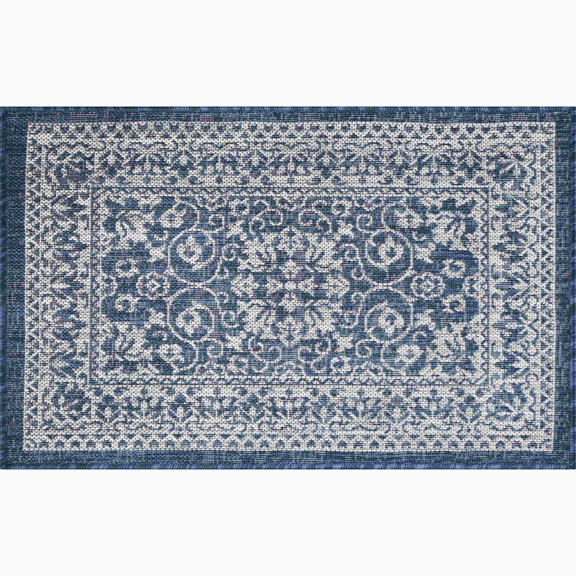 Tayse Veranda Liva Transitional Navy Rug