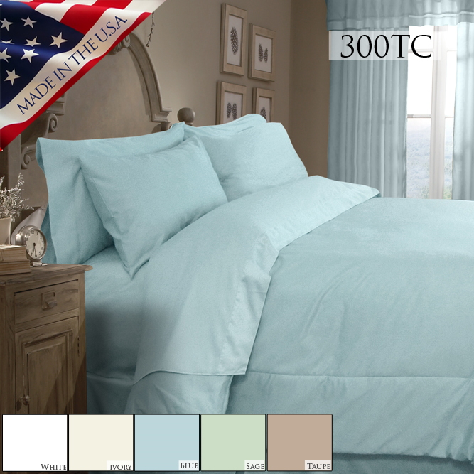 Veratex Supreme Sateen 300 Solid Comforter Set